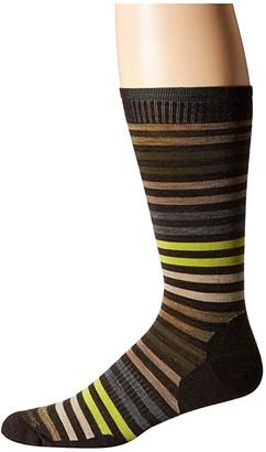 Smartwool Spruce Street Crew (Black) Men's Crew Cut Socks Shoes