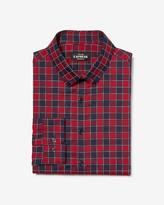 Express Extra Slim Checker Print Wrinkle-Resistant Performance Dress Shirt