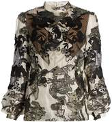 Erdem Bernice fil coupé balloon-sleeved blouse