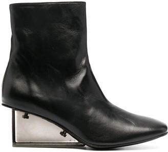 Nicole Saldaña Anna leather ankle boots