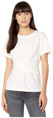 Rag & Bone Aimie Tie Tee (White) Women's Clothing