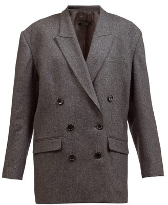 Isabel Marant Oladimia Wool-blend Flannel Suit Jacket - Grey
