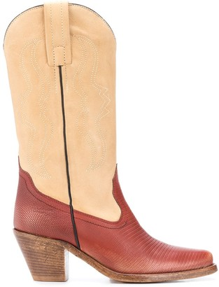 Philosophy di Lorenzo Serafini Two-Tone Cowboy Boots