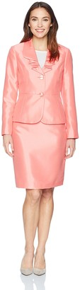 Le Suit LeSuit Women's Shiny 2 Bttn Skirt Suit