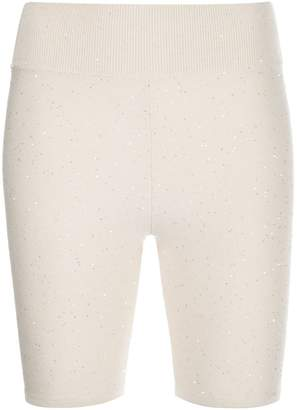 Area knitted cycling shorts
