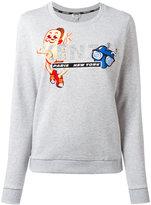 Kenzo hotdog embroidered sweatshirt - women - Cotton - L