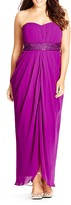 City Chic Divine Drape Maxi Dress