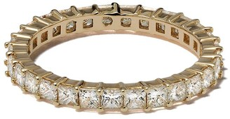 Dana Rebecca Designs 14kt yellow gold Millie Ryan princess cut diamond eternity ring