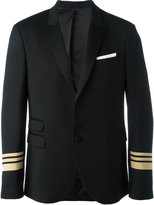 Neil Barrett striped cuff blazer - men - Polyester/Spandex/Elastane/Viscose/Virgin Wool - 46