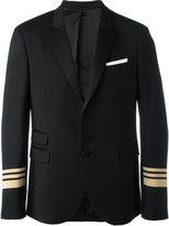 Neil Barrett striped cuff blazer - men - Polyester/Spandex/Elastane/Viscose/Virgin Wool - 48
