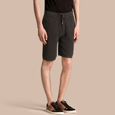 Burberry Knitted Cashmere Shorts, Grey