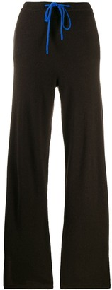 Parker Chinti & knitted contrast-trim jogger trousers