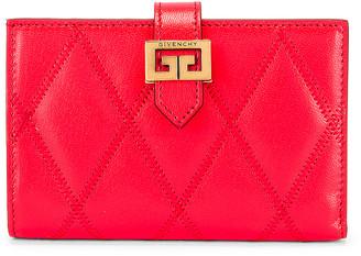 Givenchy Medium GV3 Bifold Wallet in Red | FWRD