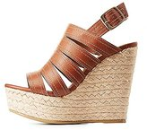 Charlotte Russe Bamboo Espadrille Wedge Sandals