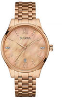 Bulova Classic Mother-of-Pearl Rose-Goldtone Stainless Steel Watch