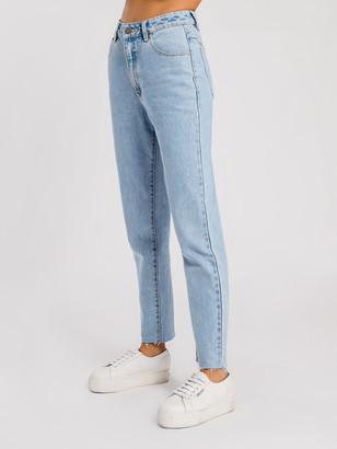 Abrand '94 High Rise Slim Leg Mom Jeans in Walk Away Denim