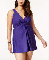 Miraclesuit Plus Size Marais Twist-Front Swimdress Women's Swimsuit