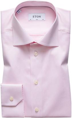 Eton Men's Slim-Fit Twill Dress Shirt