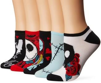 Disney Women's Nightmare Before Christmas 5 Pack No Show Socks