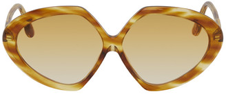 Victoria Beckham Brown Oversized Round Sunglasses