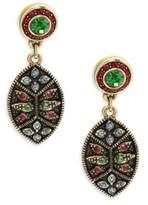 Heidi Daus Patchwork Crystal Earrings