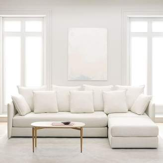 west elm Serene 3-Piece Chaise Sectional