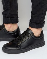Asos Sneakers in Black With Removable Studded Fringe Detail