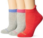 Fruit of the Loom Women's 3 Pack Breathable No Show Tab Sock