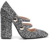 No.21 No. 21 - Glittered Leather Pumps - Silver