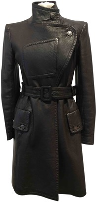 Chanel Brown Leather Coats