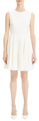 Theory Tweed Fit--Flare Sleeveless Dress