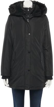 Details Women's Faux-Fur Hood Water-Resistant Parka Jacket