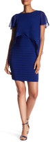 Adrianna Papell Popover Banded Flutter Sleeve Sheath Dress