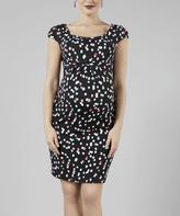 Black Dots Monique Maternity Dress
