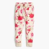 J.Crew Girls' floral splash sweatpant