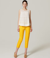 LOFT Tall Basketweave Riviera Cropped Pants in Julie Fit
