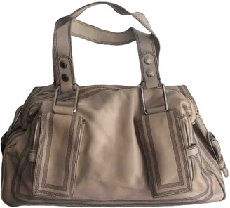 Badgley Mischka Beige Leather Handbags