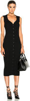 Givenchy Button Front Ribbed Knit Dress