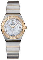 Omega Women's 27mm 18k Gold And Steel Bracelet Quartz Watch 12325276055004