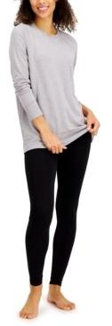 Alfani Heathered Overdye Pajama Top, Created for Macy's