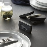 Crate & Barrel Slate Place Card Holders with Soapstone Chalk Set of Four