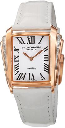 Bruno Magli Women's Leather Diamond Watch