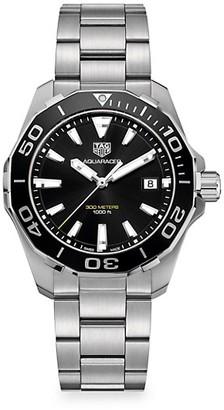 Tag Heuer Aquaracer 41MM Stainless Steel & Black Aluminum Quartz Bracelet Watch