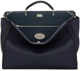 Fendi Navy Medium Peekaboo Tote