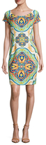 Alexia Admor Egyptian Tile Print Sheath Dress