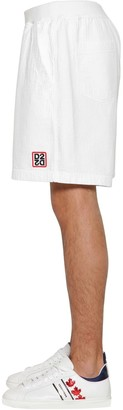 DSQUARED2 Relax Fit Textured Cotton Jersey Shorts