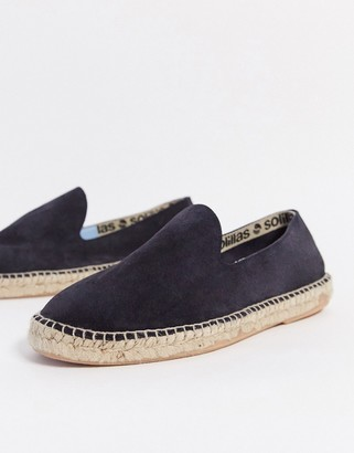 Solillas suede espadrille sandals in navy