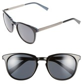 Ted Baker Men's 53Mm Round Sunglasses - Black/ Horn