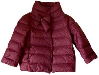 MonnaLisa Burgundy Polyester Jackets & Coats