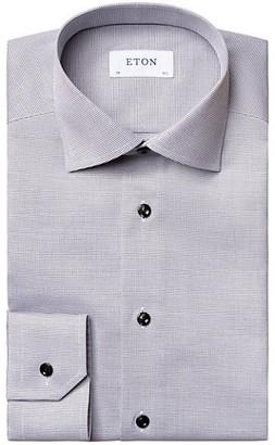 Eton Slim-Fit Textured Solid Dress Shirt